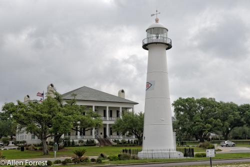 Biloxi Lighthouse and Robinson-Maloney-Dantzler House, Biloxi, Mississippi.
