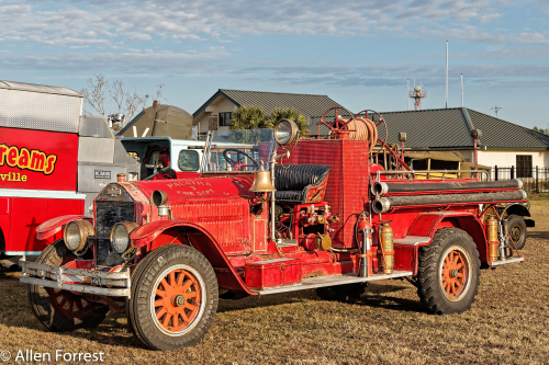 """American France Firetruck at 9th Annual """"Palatka Classic Fly-In & Car Show,"""" at Palatka Municipal Airport, Palatka, Florida"""