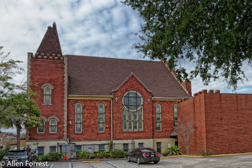 Historic Mount Zion African Methodist Episcopal Church, Jacksonville, Florida. Established in 1866, the original building was destroyed by the fire of 1901. The current building was built in 1902