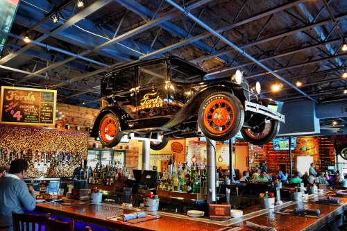 Antique Ford Over The Bar