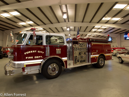 American LaFrance fire truck, Bennett Classics Antique Auto Museum, Forest City, NC